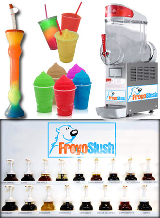 FroyoSlush - Granizado Multisabor Siropes Granizado
