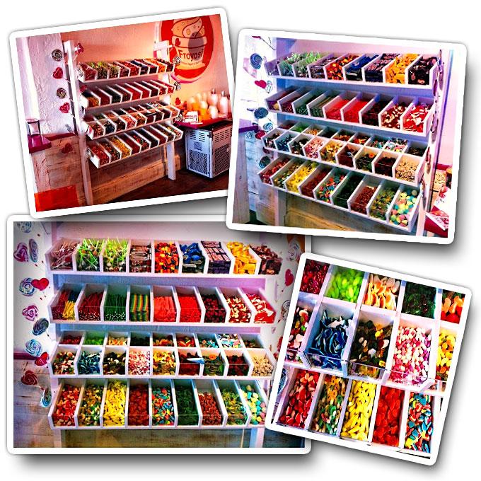 Muebles para Chuches, Gominolas, Caramelos, Piruletas, Regalices