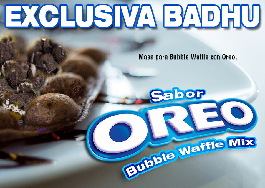 MIX HARINAS BUBBLE WAFFE OREO